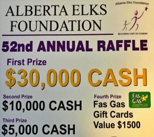 Didsbury Elks Raffle could bring some much needed funds to your bank account. Support your community today!