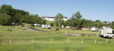Rosebud Valley Campground is located at the east entrance to the Town of Didsbury, just west of the Zion Church and across Hwy 582 from Rosebud Park, home of the Days of Yore festival.