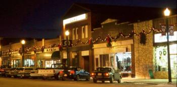 Christmas lights in Didsbury